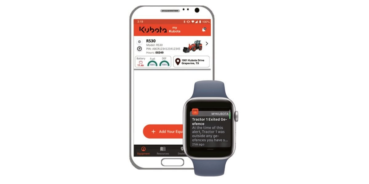 Monitor Your Equipment with the myKubota App