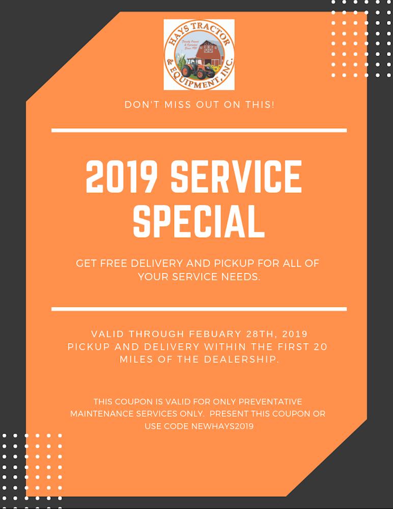 2019 service special
