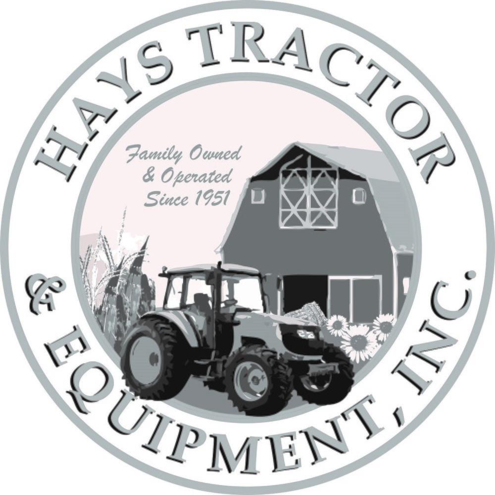 Hays Tractor logo savedown black and white
